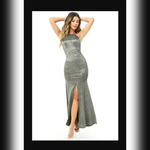 NWOT Black Glitter Gown